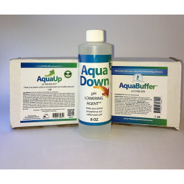 Aquaponic Complete pH Kit- Includes AquaUp, Aqua Down, and Aqua Buffer