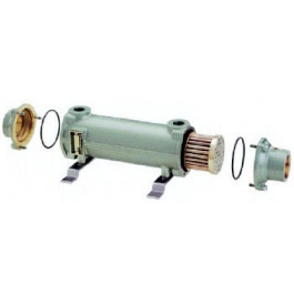 Cupro nickel tube shell heat exchangers salt water - Bowman heat exchangers for swimming pools ...