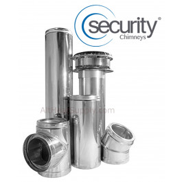"Security Chimney Stainless Steel Pipe 6""x48"""