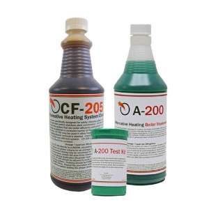 A-200 Boiler Treatment, CF205 System Cleaner and TK-500 Test Kit
