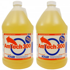 Amtech 300 Wood Boiler Water Treatment, Corrosion Inhibitor, 2 Gallons