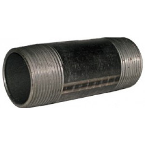 "1"" x 10"" Black Nipple - Black Pipe Fittings"