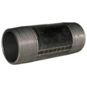 "1"" x 3"" Black Nipple - - Black Pipe Fittings"