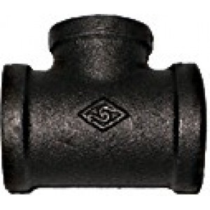 Malleable Iron Reducing Tee - Black Fittings