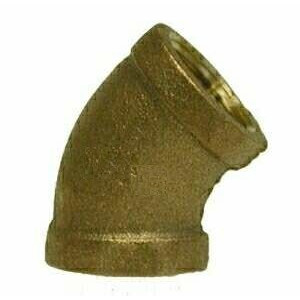 "3/4"" Brass 45 Degree FPT - Brass Fittings"