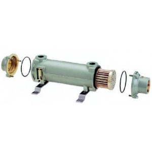 Cupro-Nickle Tube & Shell Heat Exchanger, 200,000 BTU