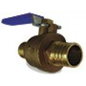 "1/2"" Pex Ball Valve Cash Acme 22461LF - Brass Fitting"