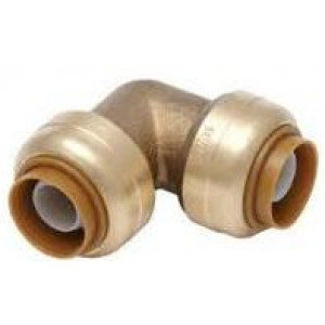 "1/2"" 90 Degree Elbow SharkBite Cash Acme U248LF, Brass Fitting"