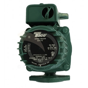Taco 009-F5 Cast Iron, 1/8 HP, High Velocity Circulator Pump
