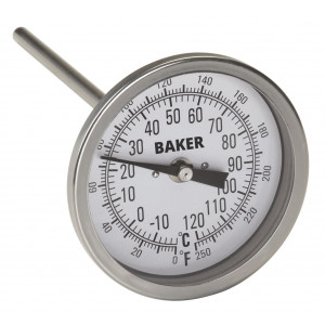 "Central Boiler Temperature Gauge 3"", For Wood Boilers & Furnaces"