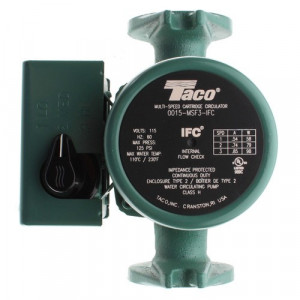 Taco 0015-MSF3- 3-Speed Cast Iron Circulator - 1/20HP