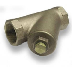 "3/4"" Threaded Brass Y-Strainer Cash Acme 22418, Brass Fittings"