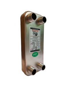 10 Stainless Steel Brazed Plate Heat Exchanger, 20,000 BTU