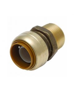"3/4"" x 3/4"" MPT SharkBite Cash Acme U134LF, Brass Fitting"