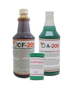 A-200 Boiler Treatment, CF205 System Cleaner and TK-500 Test Kit. Boiler Treatment
