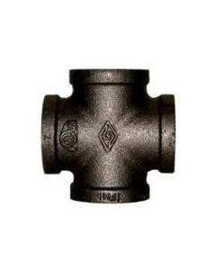 "1 1/4"" Black Iron Cross - Black Pipe Fittings"