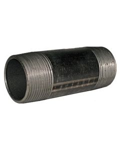 "1"" x 8"" Black Nipple - Black Pipe Fittings"