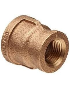 "1"" x 1/2"" Brass Reducing Coupling - Brass Fittings"