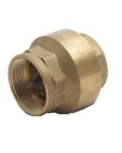 "1"" In-Line Check Valve Cash Acme 22511-0000 - Brass Fitting"