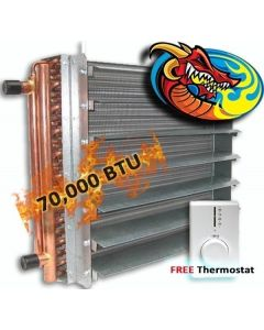 Unit Heater, Hydronic 70,000 BTU, Dragon Breath Wood Boiler *High Quality*