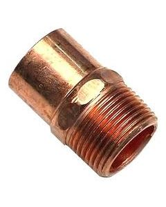 """Threaded Copper Fitting 1"""" MPT x 3/4"""" Sw."""