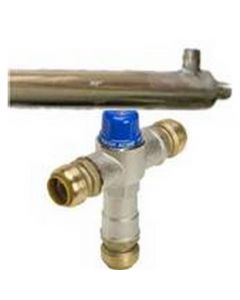 "38"" Stainless Steel Side Arm Kit with SharkBite Mixing Valve (AHS)"
