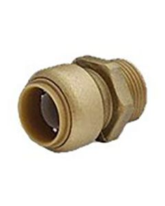 "1"" x 3/4"" Brass MPT SharkBite Cash Acme U142LF, SharkBite Fittings"