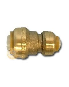 "1"" x 3/4"" Brass Reducing Coupling SharkBite Cash Acme U060LF, SharkBite Fittings"