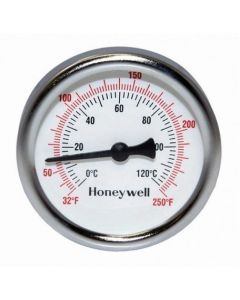 Honeywell Brass GT162 Dial Thermometer, 1/2 inch NPT, Parts & Accessories
