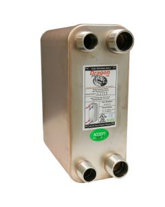 80 Stainless Steel Brazed Plate Heat Exchanger, 200,000 BTU